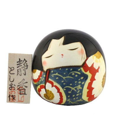 Bambola giapponese,  Kokeshi Shizuka - Tranquillità - A800107