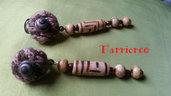 ORECCHINI MEDEA - lana/legno/acrilico