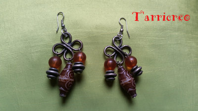 ORECCHINI NABUCCO - metallo/perline/pendenti