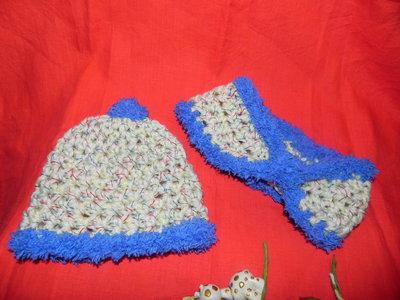 Cappellino e scaldacollo in misto lana multicolore unisex