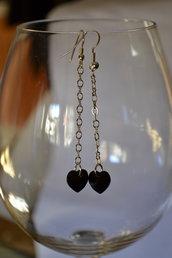 Orecchini pendenti con cuore Swarovski