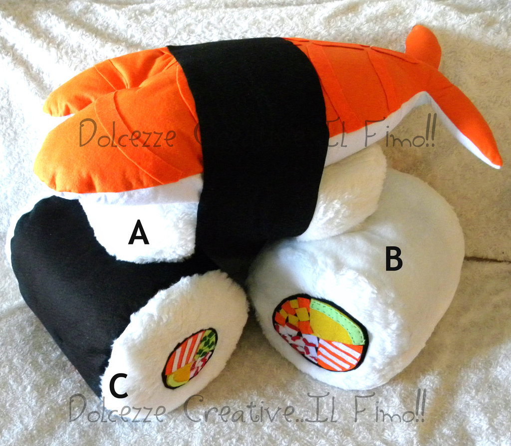 Modello b cuscino sushi uramaki tall salmon roll ebi for Cuscino sushi