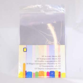 Set 10 fogli in acetato - A5