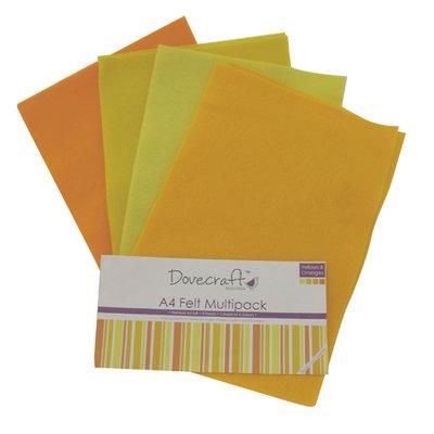 Set pannolenci a4 giallo materiali stoffa e filati for Oggetti di colore giallo