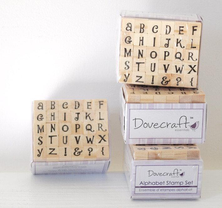 Set 30 timbri in legno - Alfabeto A