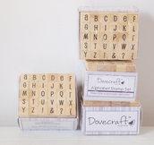 Set 30 timbri in legno - Alfabeto B