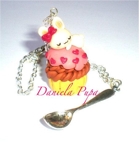 collana  cupcake bunny