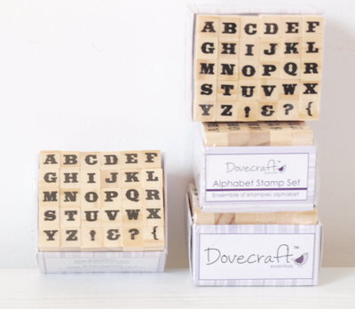 Set 30 timbri in legno - Alfabeto D