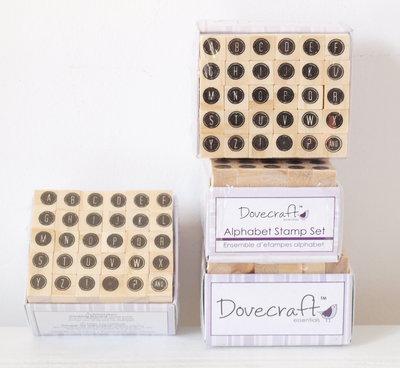 Set 30 timbri in legno - Alfabeto E