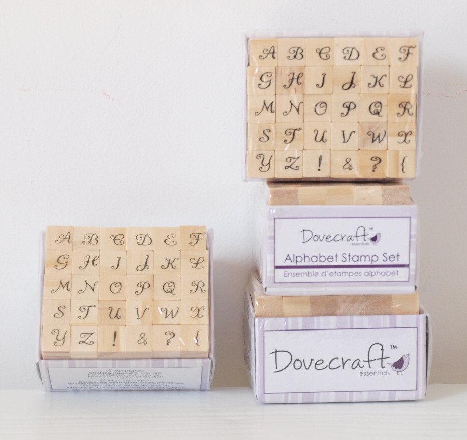 Set 30 timbri in legno - Alfabeto F