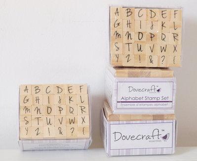 Set 30 timbri in legno - Alfabeto G
