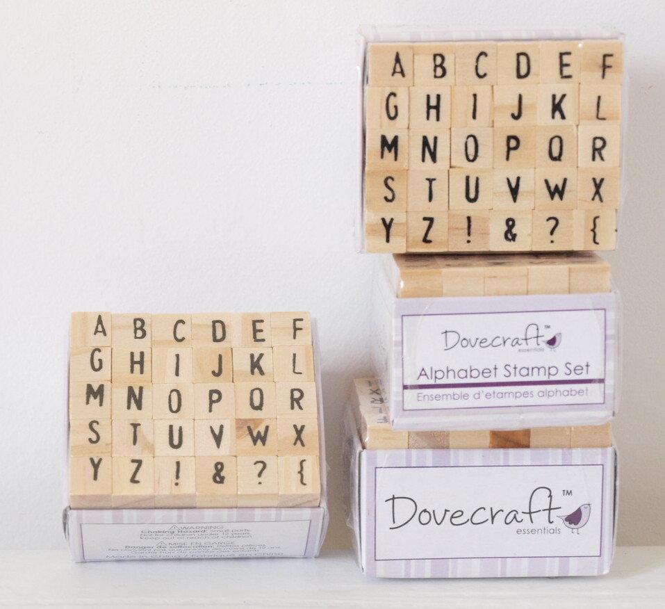 Set 30 timbri in legno - Alfabeto H