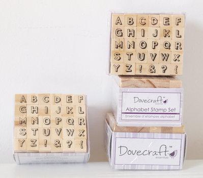 Set 30 timbri in legno - Alfabeto I