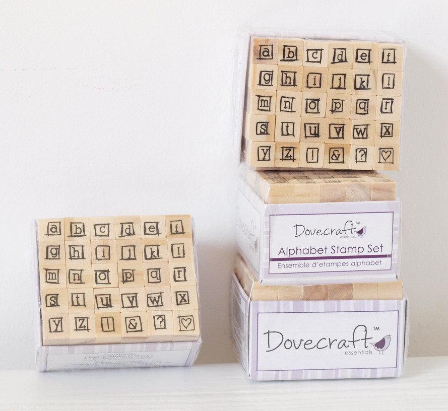 Set 30 timbri in legno - Alfabeto L