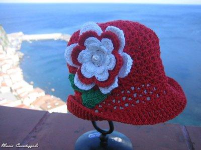 cappellino in cotone per bimba