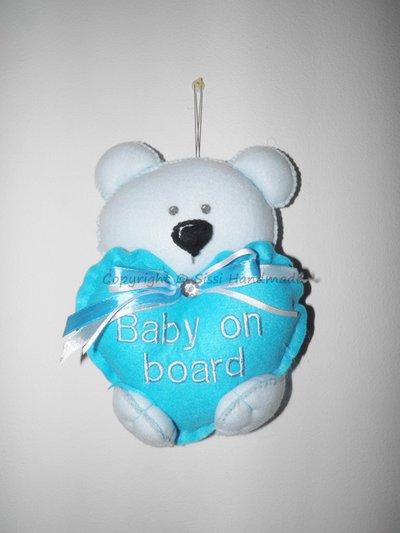 Bimbo a bordo: Orsetto in pannolenci personalizzato