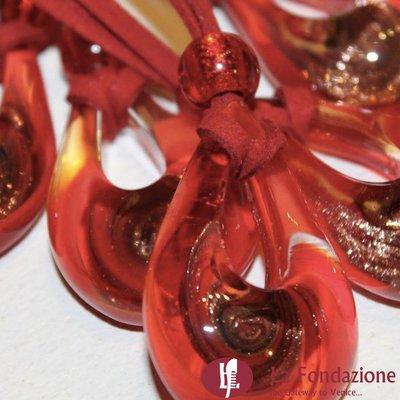 Goccia Vortice - Pendente in vetro di Murano