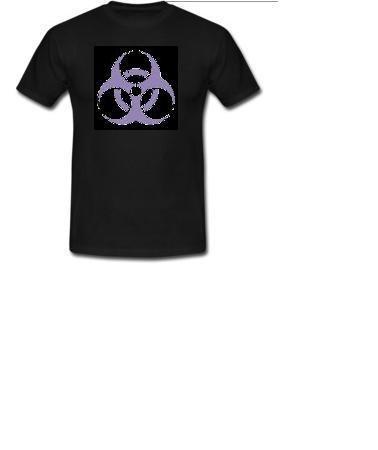 t-shirt uomo rischio biologico