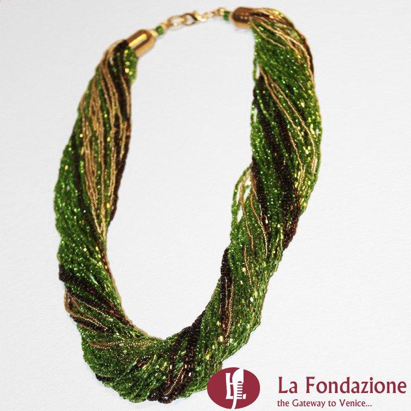Torchon Maxi Foresta - Collana in vetro di Murano