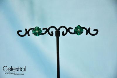 Orecchini a Perno - Emerald