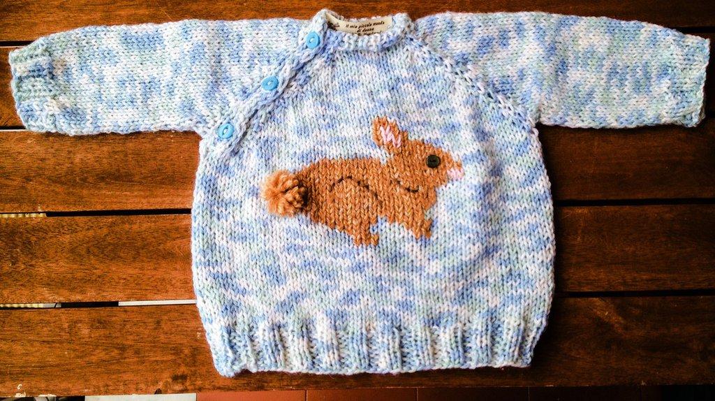 Golfino baby con coniglietto