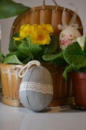 Uovo di Pasqua in tessuto da stile Shabby