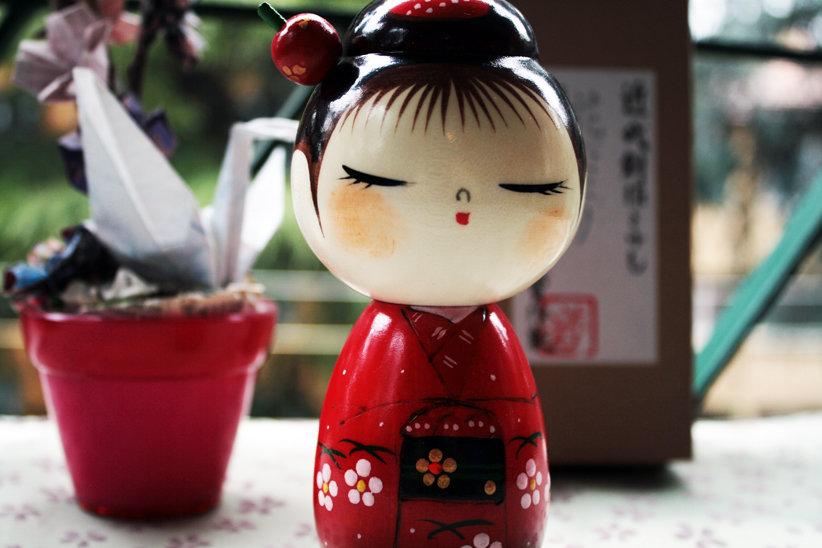 Bambola giapponese, Kokeshi, Hanadayori -  A490277
