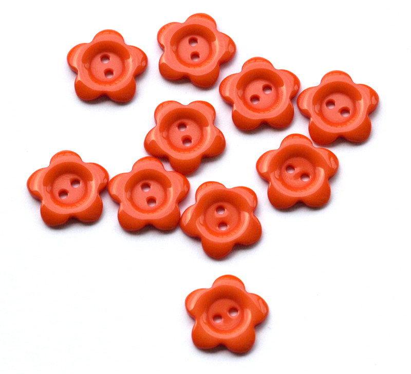 Set 12 bottoni 17 mm - Fiore