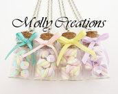 Collana con boccetta di Marshmallows in Fimo