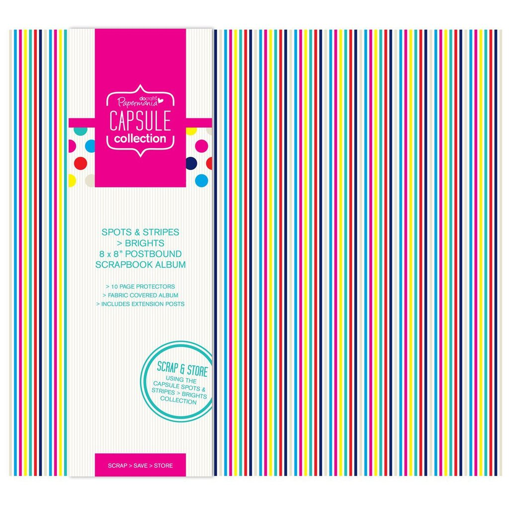 Scrapbooking album 20x20 cm - Spots & Stripes Brights