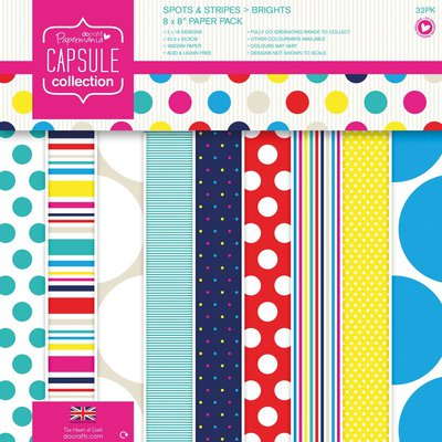Blocco di carta 20x20 cm - Capsule Spots & Stripes Brights