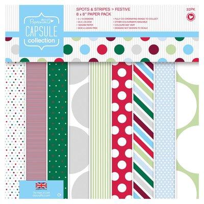Blocco di carta 20x20 cm - Capsule Spots & Stripes Festive