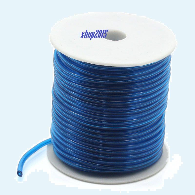50 cm Corda tubo in Gomma Azzurro trasparente  3mm