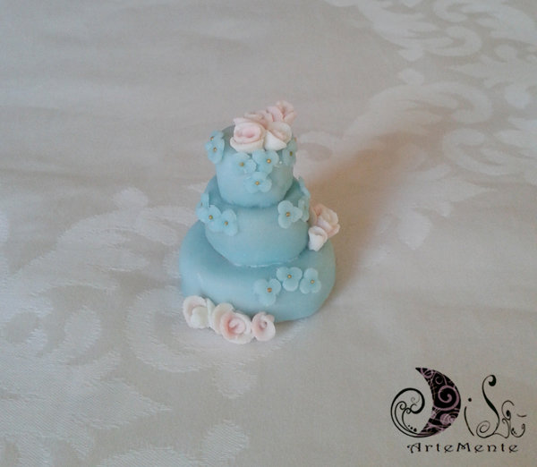 Bomboniera matrimonio wedding cake tiffany e shabby chic