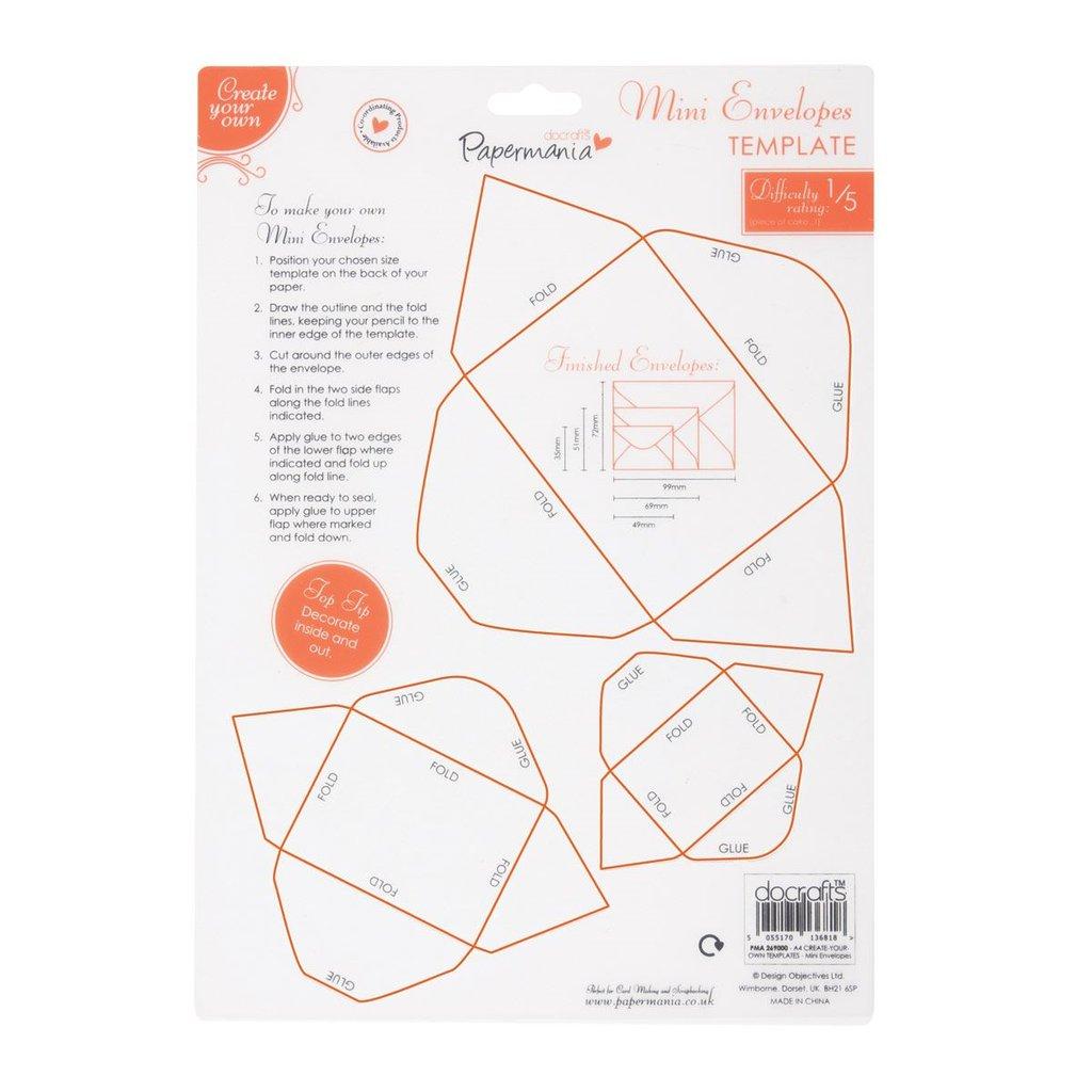 Create Your Own Templates - Mini Envelopes