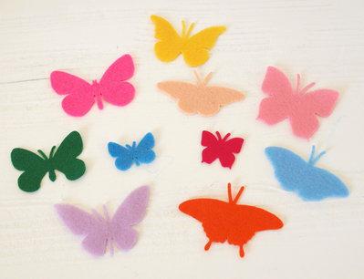 Mix 10 farfalle fustellate in pannolenci