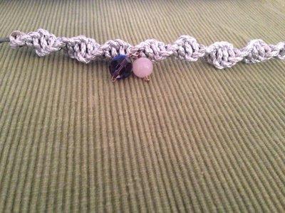macramè bracciale con perle