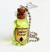 Collana con pendente a bottiglietta: Zombie Virus