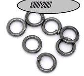 50 anellini , anelli apribili 4 mm  Canna di fucile  senza nikel