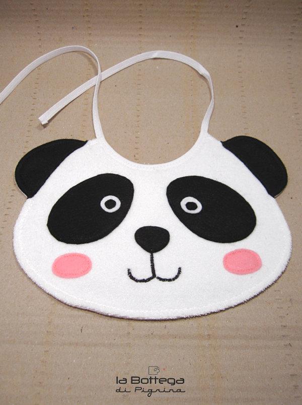 Bavaglino per neonato - Panda