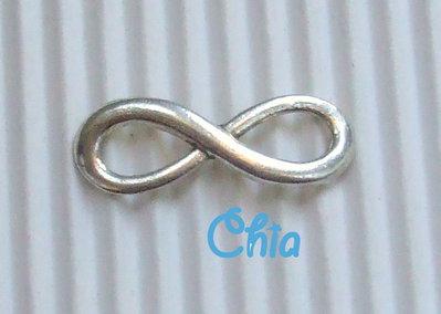 1 connettore link simbolo infinito 23x8mm