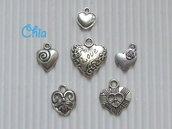 lotto 6 charms cuore Love