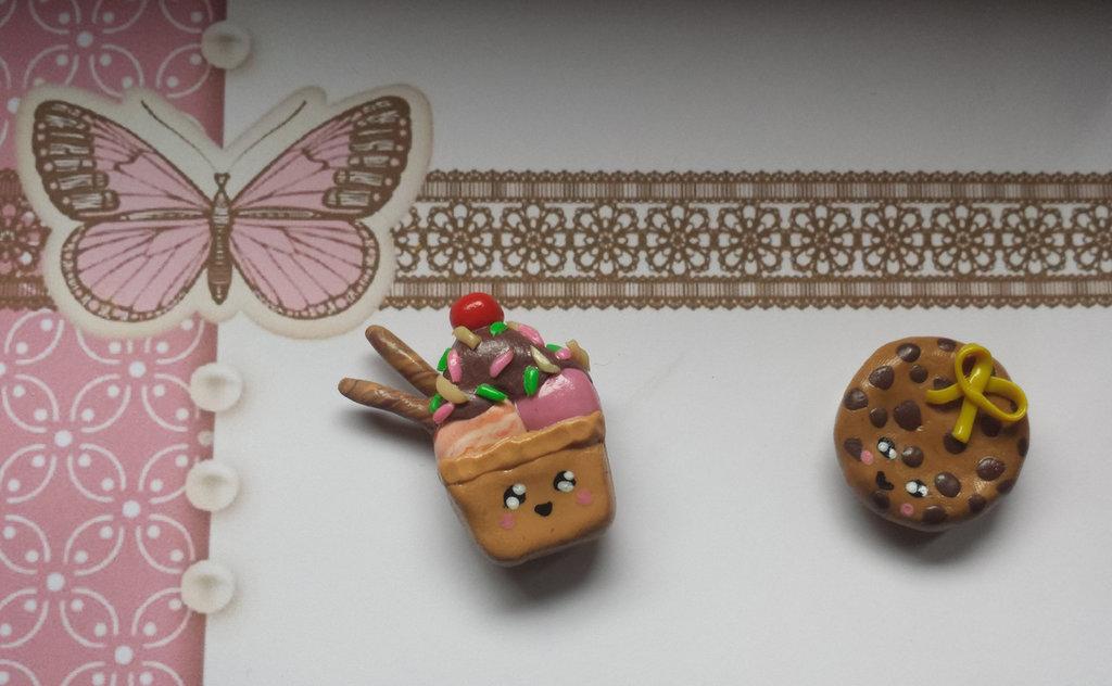 Calamita con magnete in Fimo fatta a mano è rimasto solo il Bioscotto Cookies Kawaii