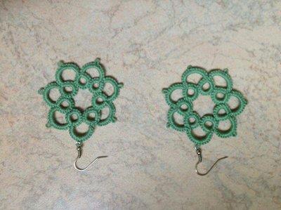 orecchini verde erba