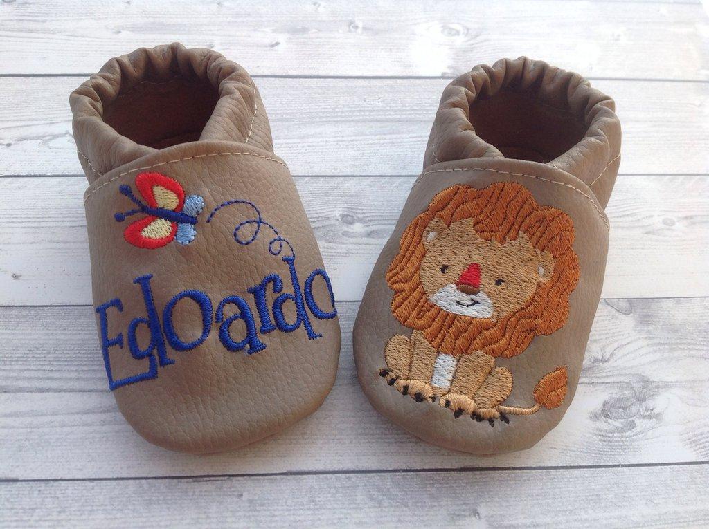 Scarpine in ecopelle personalizzate con nome - Bambino 3-6 mesi