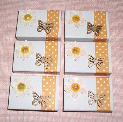Scatoline decorate per regali - Lotto *Spring Packaging 1* - Primavera, Farfalle e Fiori^^ (lotto 6pz)