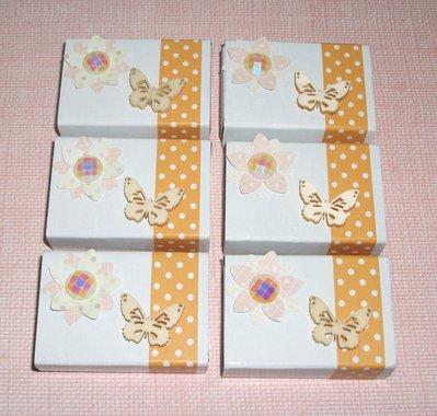 Scatoline decorate per regali - Lotto *Spring Packaging 2* - Primavera, Farfalle e Fiori^^ (lotto 6pz)