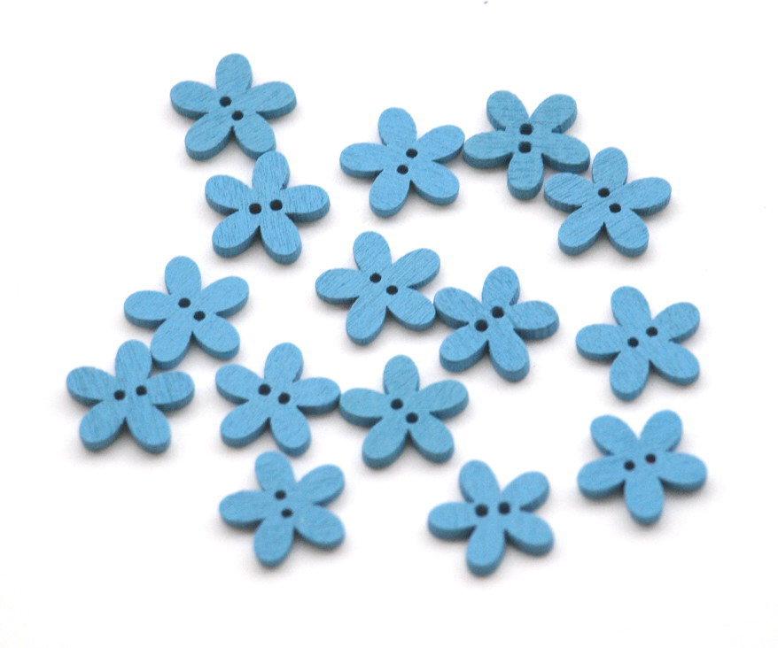 Set 20 bottoni - Fiore