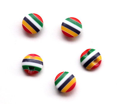 Set 10 bottoni 13 mm - Multicolor