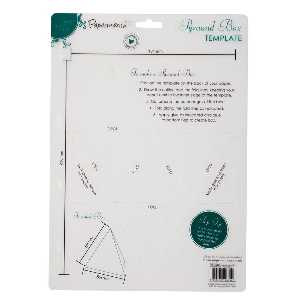 Create Your Own Templates - Pyramid Box